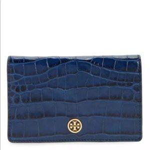 Tory Burch parker embossed medium slim wallet